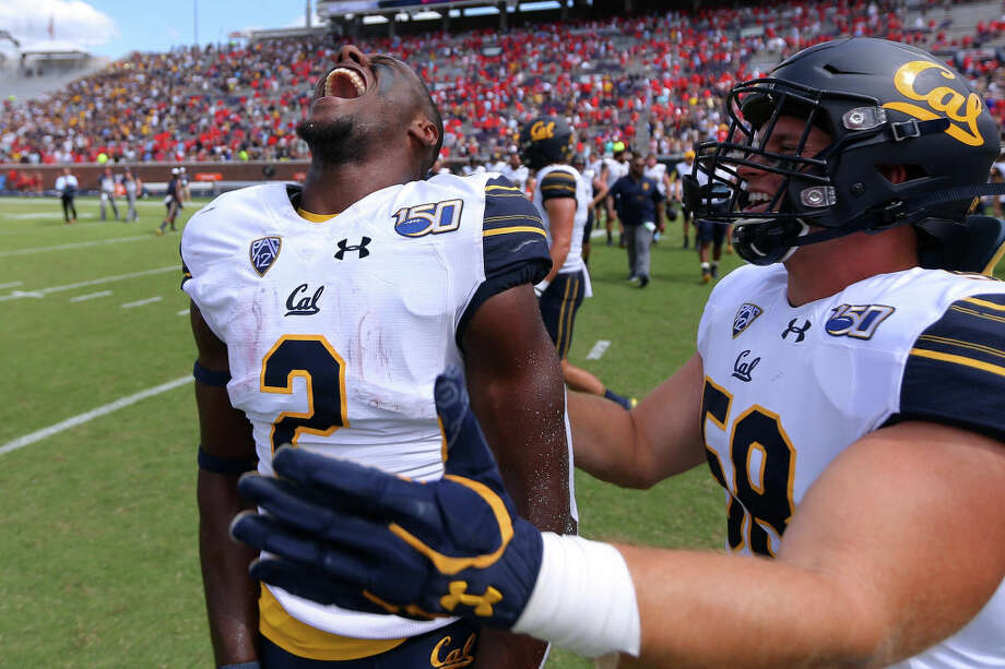 OXFORD, MISSISSIPPI - SEPTEMBER 21: Jordan Duncan #2 of the California Golden Bears celebrates a win after a game against the Mississippi Rebels at Vaught-Hemingway Stadium on September 21, 2019 in Oxford, Mississippi. (Photo by Jonathan Bachman/Getty Images) Photo: Jonathan Bachman/Getty Images / 2019 Getty Images