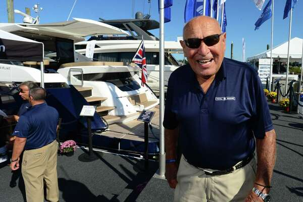 John Caruso of Total Marine at the Norwalk Boat Show Saturday, September 21, 2019, at Cove Marina in Norwalk, Conn. Caruso has been in the marina business for over 50 years and the 91-year-old is not slowing down.
