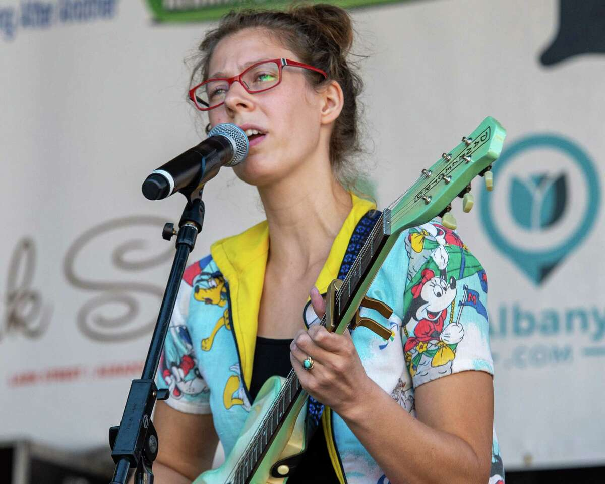 Katie Hammon, lead singer of the Bear Grass, performs at LarkFest on Saturday, Sept. 21, 2019 in Albany NY (Jim Franco/Special to the Times Union.)