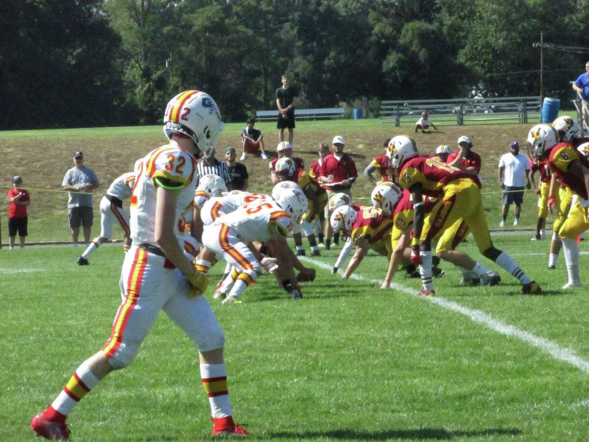 The Windsor Locks/Suffield/East Granby defense played a big part in leaving Gilbert/Northwestern's offense inconsistent in a Raider win at Windsor Locks High School Saturday afternoon.