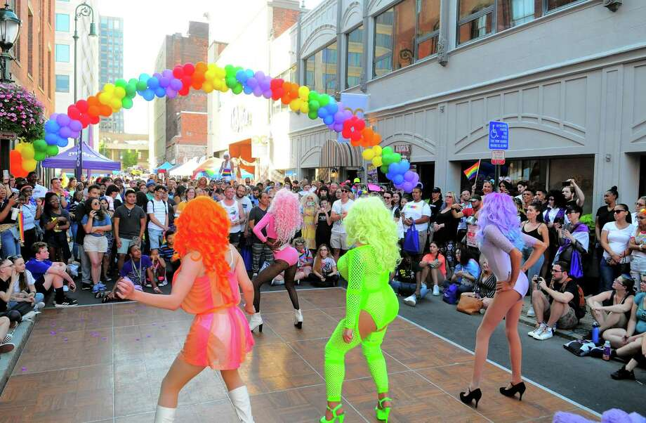 The annual New Haven Pride event held on Center Street in New Haven, Conn., on Saturday Sept. 21, 2019. Photo: Christian Abraham / Hearst Connecticut Media / Connecticut Post