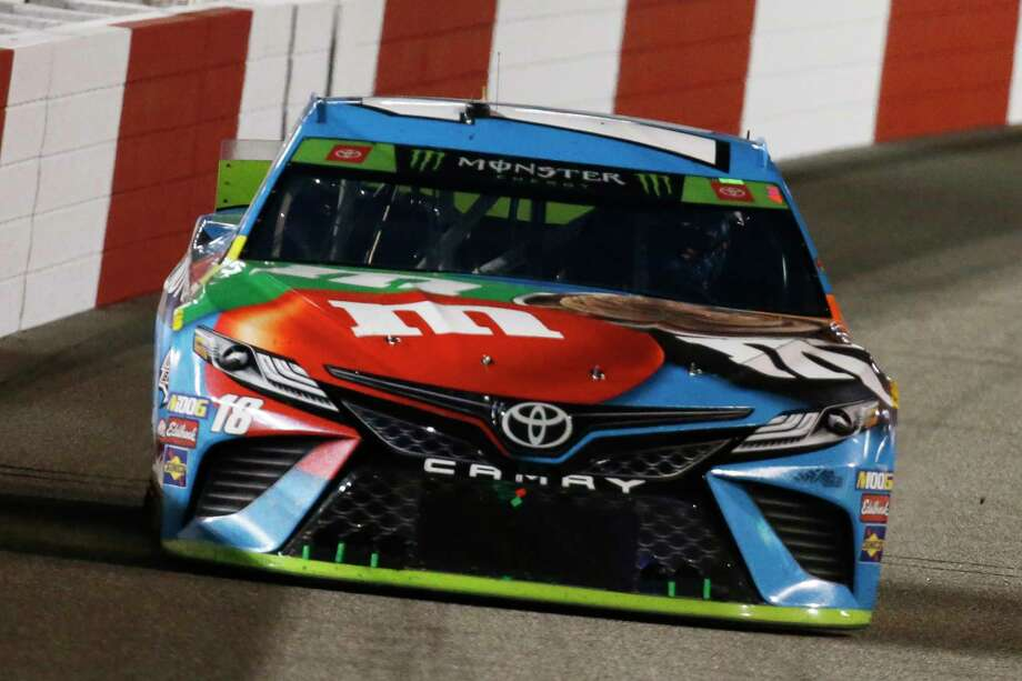 Kyle Busch heads into Turn 1 during the NASCAR Cup Series auto race at Richmond Raceway in Richmond, Va., Saturday, Sept. 21, 2019. (AP Photo/Steve Helber) Photo: Steve Helber / Copyright 2019 The Associated Press. All rights reserved