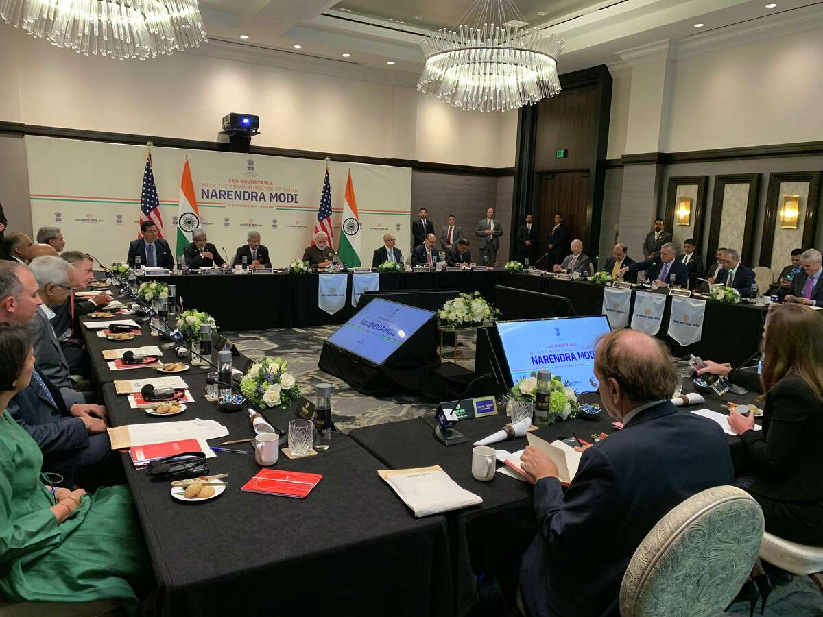 During a Saturday, September 21, 2019 visit to Houston, Prime Minister of India Narendra Modi held a roundtable disucssion with executives from 16 energy industry companies at the Post Oak Hotel at Uptown Houston. The roundtable ended with Houston liquefied natural gas company Tellurian and India's Petronet LNG signing a $2.5 billion deal.
