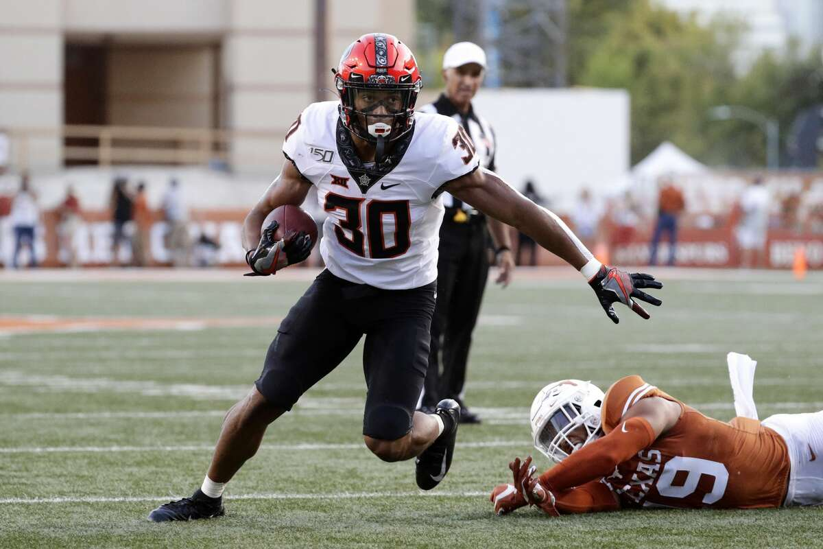 Oklahoma State running back Chuba Hubbard rushed for 121 yards and two TDs in last year's game against Texas.