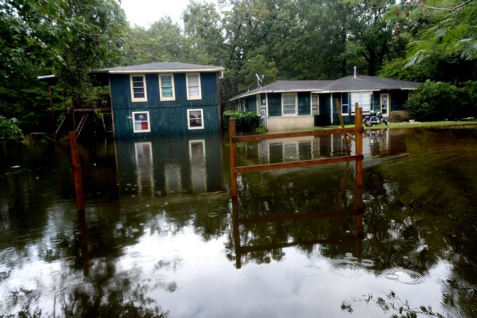 Properties on Sargent in Vidor remained heavily flooded as the process of recovery from Imelda's torrential rains and flooding begins throughout the region Friday. Photo taken Friday, September 20, 2019 Kim Brent/The Enterprise