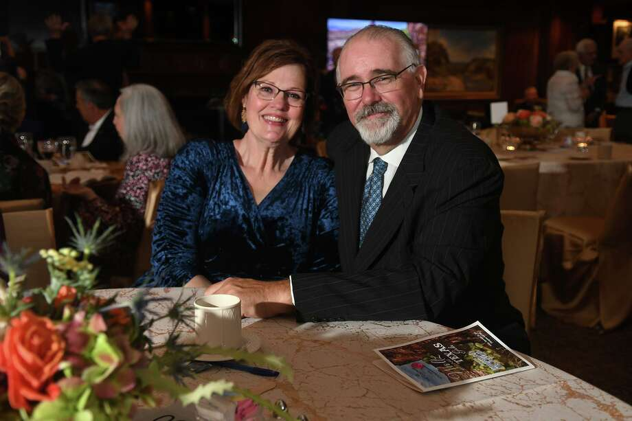 "Commissioner Jack Cagle, right, and his wife Janet Cagle were the honorees at the Centrum Arts League Annual Best of the Nothwest Gala ""Waltz Across Texas"" at Champions Golf Club on Sept. 20, 2019. Photo: Jerry Baker, Houston Chronicle / Contributor / Houston Chronicle"