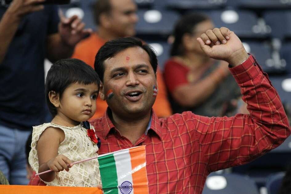 Thousands are funneling into NRG Stadium to see India's prime minster Narenda Modi and President Trump.