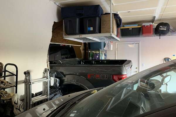 Children narrowly avoid injury when truck crashes into Brentwood home