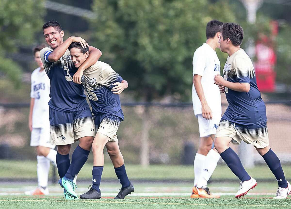 Notre Dame-Fairfield was bumped to Class M this season in boys soccer after reaching the state semifinals last year.