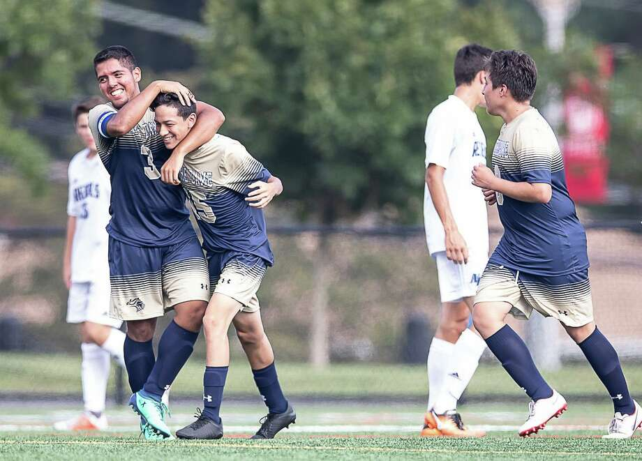 Notre Dame-Fairfield was bumped to Class M this season in boys soccer after reaching the state semifinals last year. Photo: John McCreary / For Hearst Connecticut Media / Connecticut Post Freelance