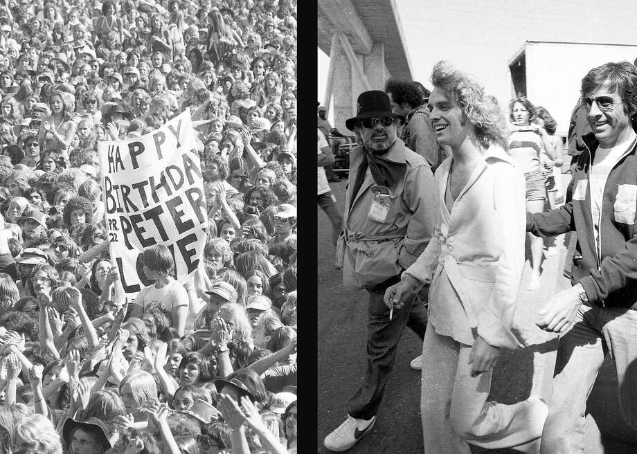 April 25, 1976: Peter Frampton was at the peak of his fame when he played Day on the Green at the Oakland Coliseum in 1976. Photo: Susan Gilbert / The Chronicle 1976