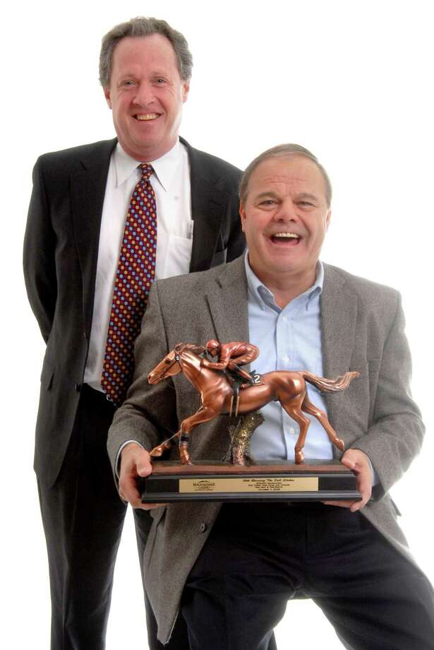 Local race horse owners Ralph Durante and John Buckley, both of North Haven. Photo: Hearst Connecticut Media File Photo