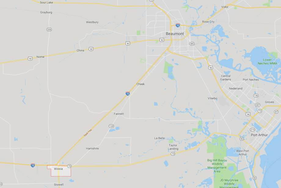 Interstate 10 has re-opened between Beaumont and Winnie after severe flooding in the area last week. Photo: Google Maps
