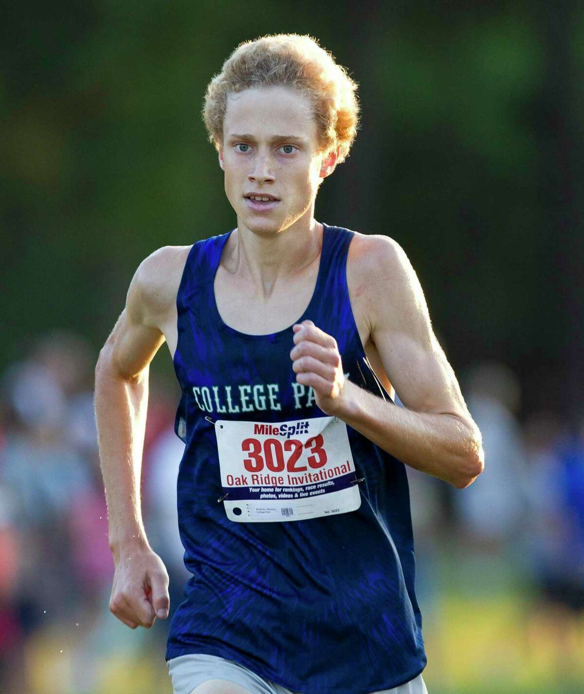 Nicklaus Brawner of College Park, shown here earlier this month, won the Saturday's College Park Invitational 5K varsity race.