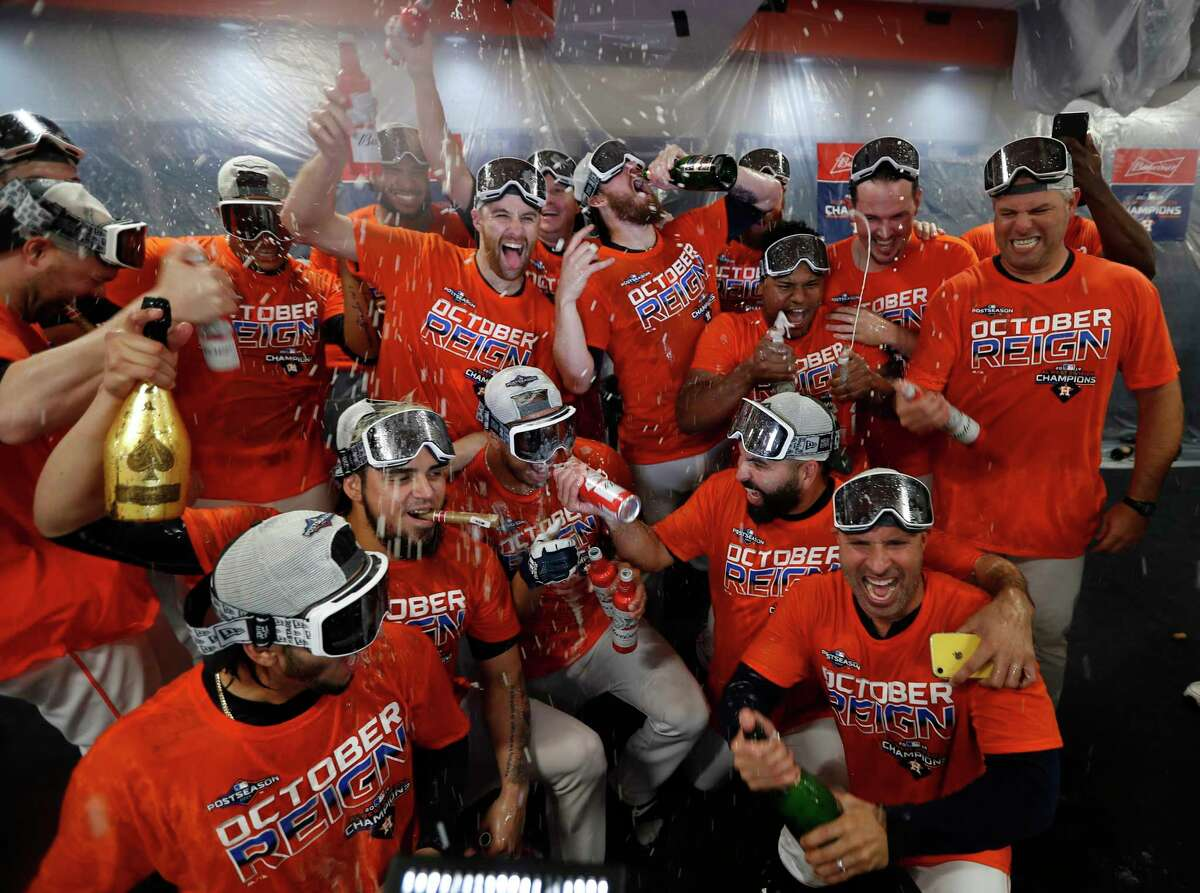 After winning an MLB-high 107 games and their third straight division title, the Astros hope to have three more clubhouse celebrations before the season is over.