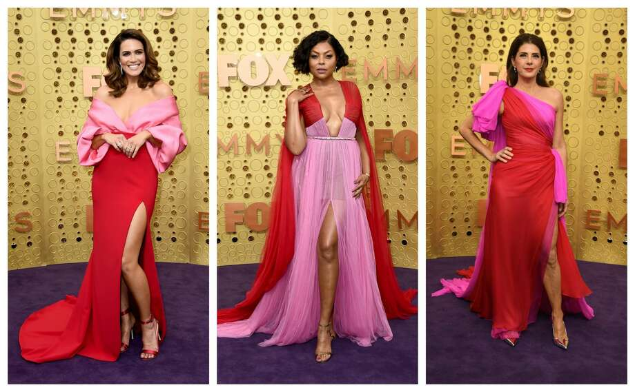 Emmys red carpet trend: Pink and Red Photo: AP