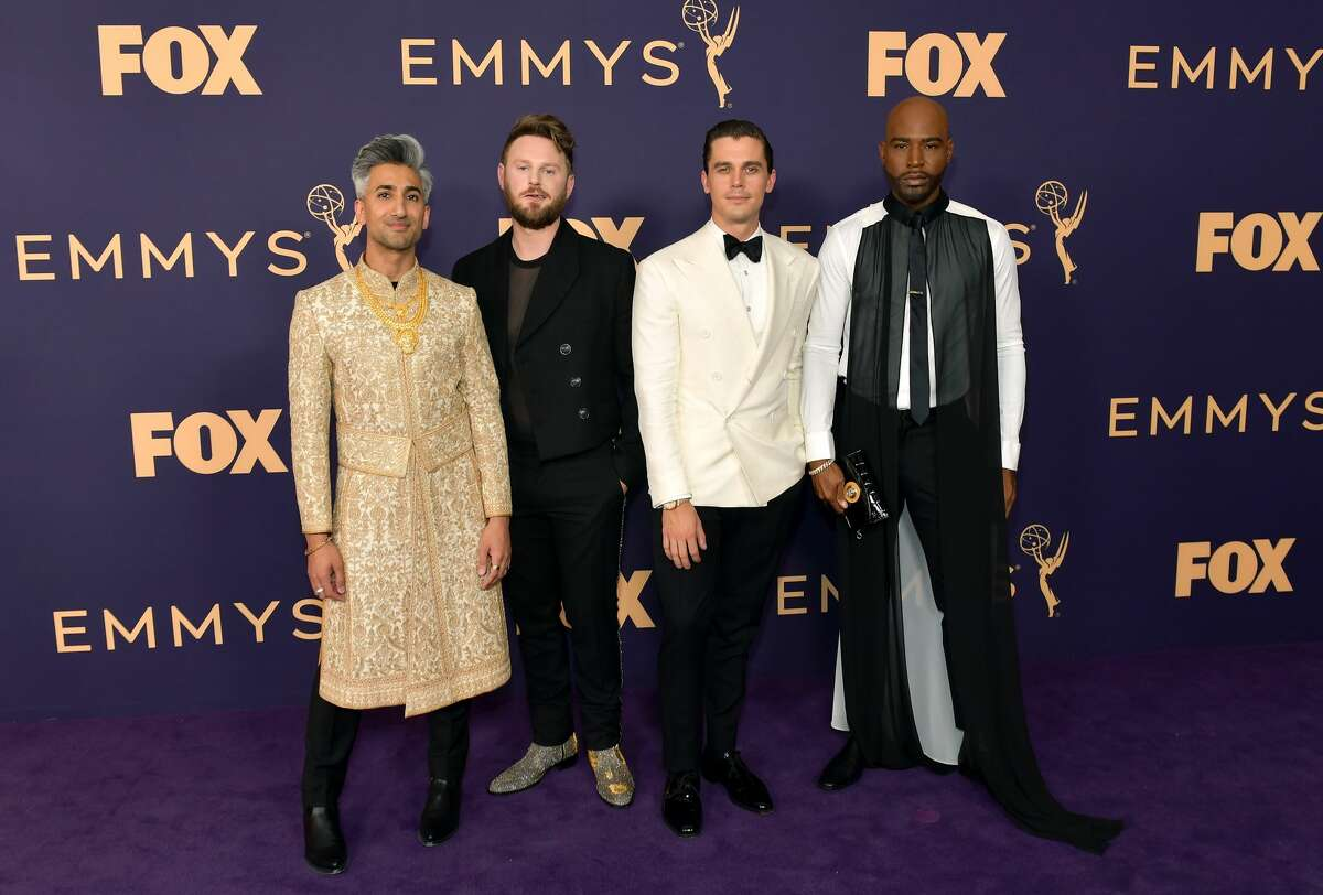 Tan France, Bobby Berk, Antoni Porowski, and Karamo Brown attend the 71st Emmy Awards at Microsoft Theater on Sept. 22, 2019 in Los Angeles, Calif.
