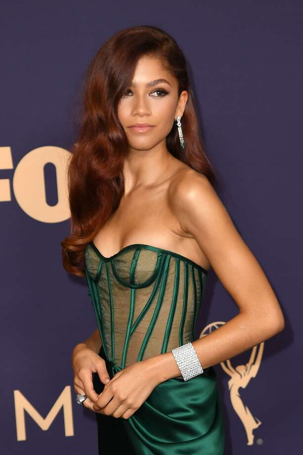 Actress Zendaya arrives for the 71st Emmy Awards at the Microsoft Theatre in Los Angeles on Sept. 22, 2019. Photo: Robyn Beck, AFP/Getty Images