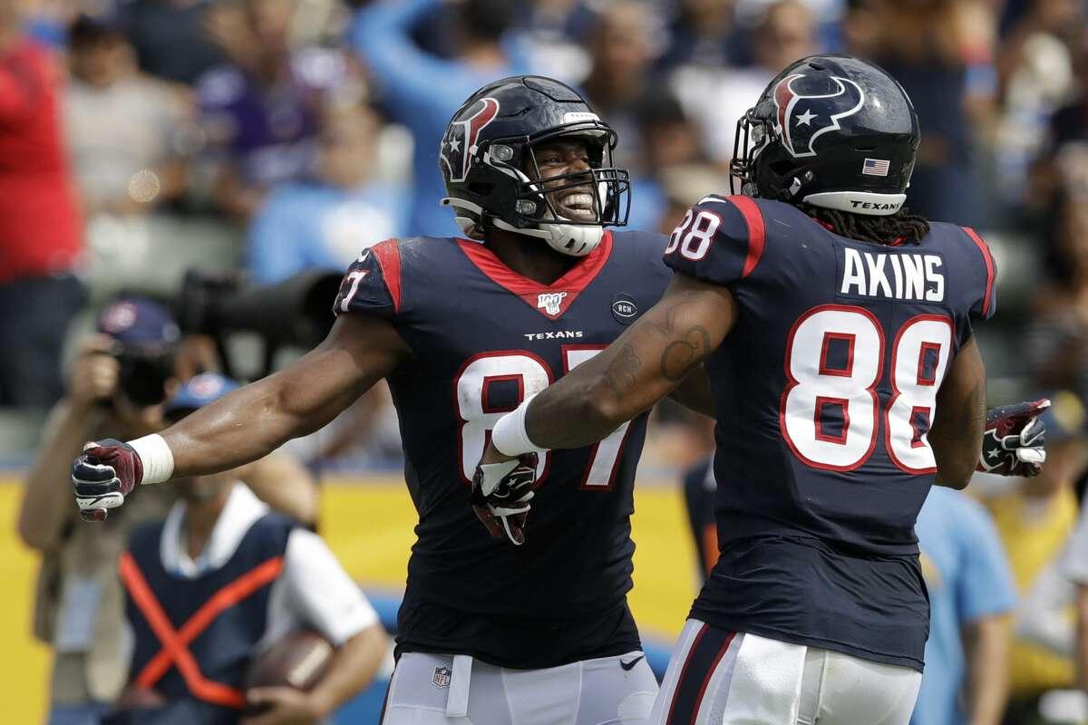 Darren Fells caught a team-record seven touchdown passes. Jordan Akins added two.