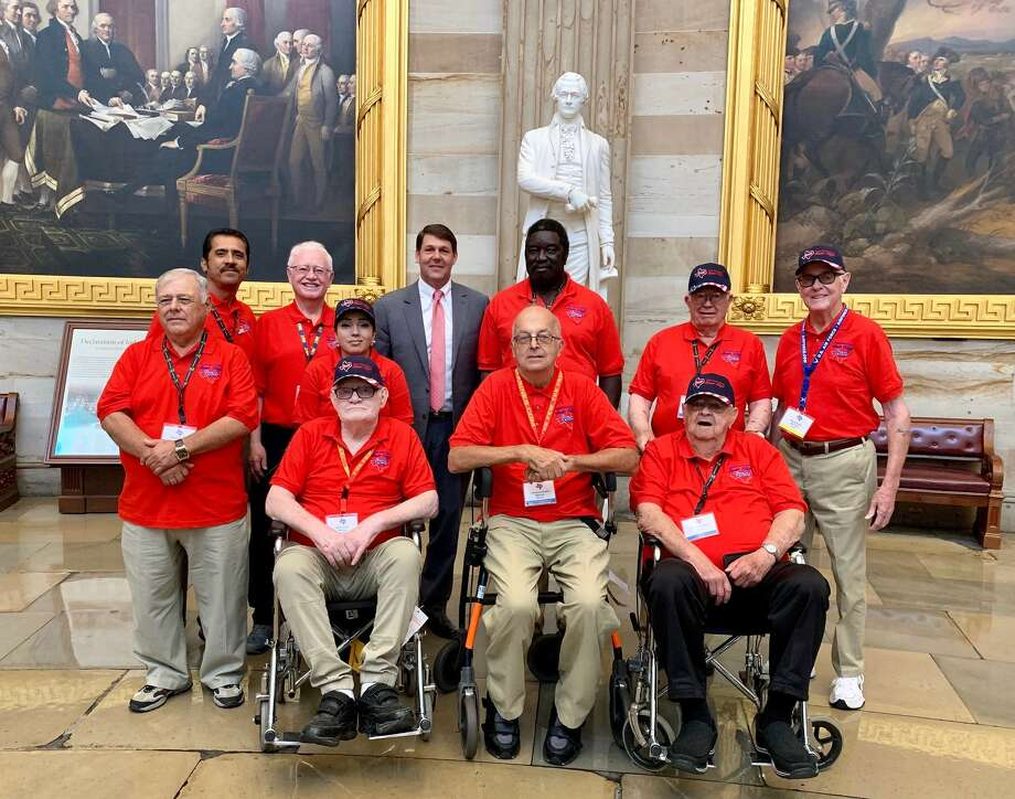 The Plainview veterans that went on the 2019 South Plains Honor Flight stand with Congressman Jodey Arrington at the Capitol in Washington D.C. Photo: Courtesy Photo/Angela Allen/South Plains Honor Flight