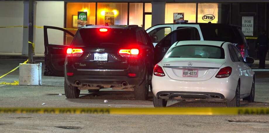A man is dead and another in the hospital after police said they were shot by unknown assailants while they sat inside their vehicle in southeast Houston early Monday. Photo: OnScene.TV