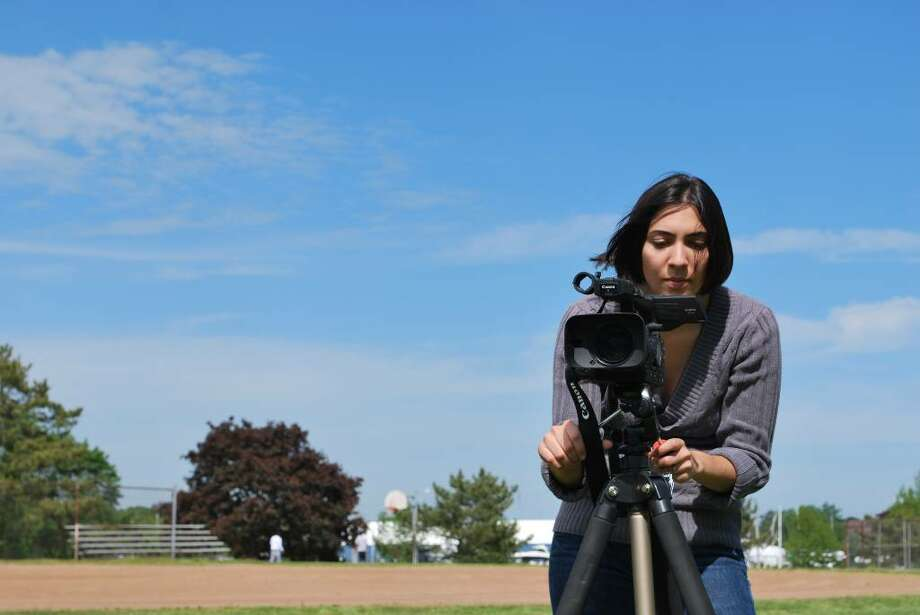 "Bridget Stokes, a Stamford filmmaker, is currently raising funds for her film, ""Herman & Shelly."" There will be a fundraiser for the film Thursday at Stamford's Seaside Tavern. Photo: Contributed Photo / Connecticut Post Contributed"