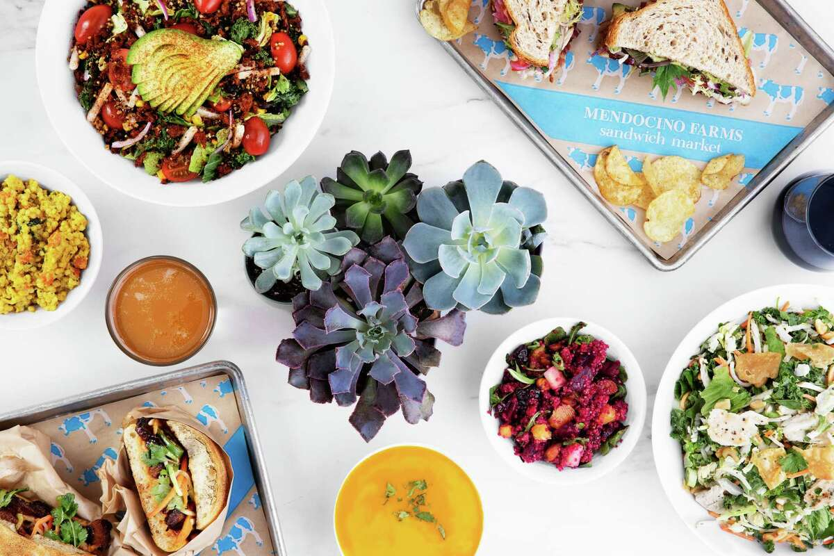 Mendocino Farms, a fast-casual sandwich and salad brand, will open its second Houston location Oct. 3 in Uptown Park. It's first shop in July in Rice Village. A third store will open Nov. 7 in downtown. Shown: Group shot of menu options.