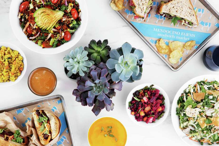 Mendocino Farms, a fast-casual sandwich and salad brand, will open its second Houston location Oct. 3 in Uptown Park. It's first shop in July in Rice Village. A third store will open Nov. 7 in downtown. Shown: Group shot of menu options. Photo: Mendocino Farms