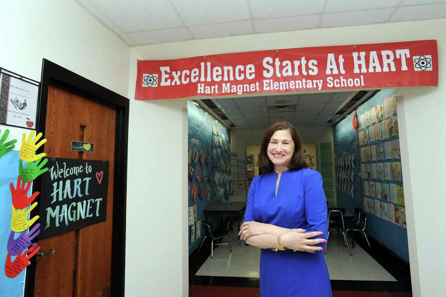 Hart Magnet Elementary School principal Linda Darling poses for a photo inside the Adams Ave. school in Stamford, Conn. on Tuesday, June 5, 2018. Darlin was one of six administrators statewide to receive the administrator of the year away from the Connecticut Association of School Administrators. Photo: Michael Cummo / Hearst Connecticut Media / Stamford Advocate