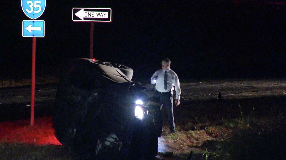 One man was hospitalized after a pursuit with Bexar County Sheriff's deputies ended in a rollover crash.