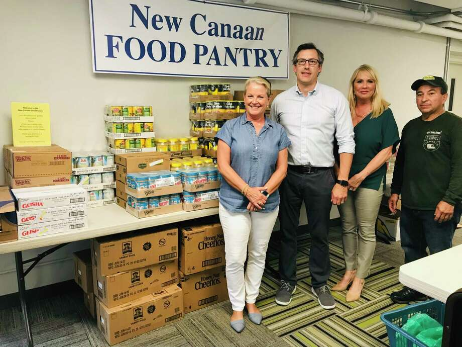 The New Canaan Chamber of Commerce recently hosted 'Explore New Canaan' raising $3,500 worth of food donations for the local food pantry. Photo: Contributed Photo