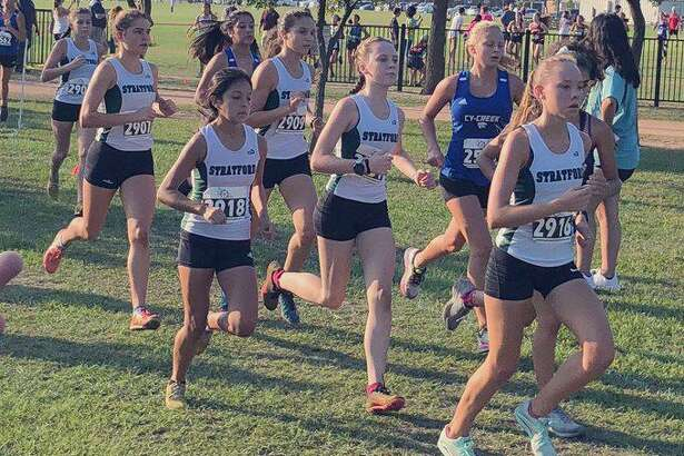 The Stratford girls cross country team won the varsity team championship at the Spring Branch ISD Invitational, scoring 36 points to finish ahead of eight teams.