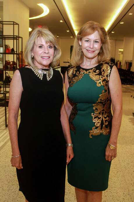 Zane Carruth, left, and Cheryl Byington at the Women of Distinction announcement party