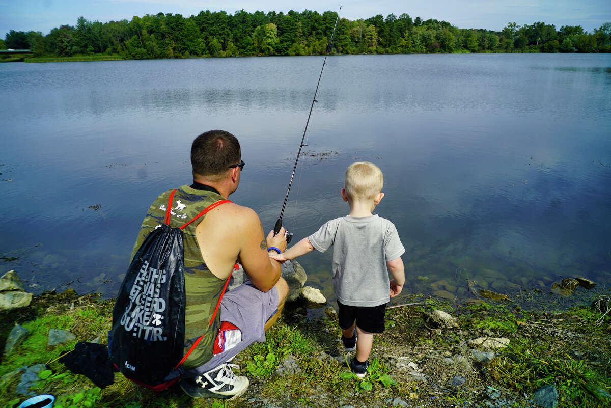 Bring a couple rods. That way, if your child gets their line tangled or their equipment is compromised, you can hand them the spare rod to use while you fix the problem.