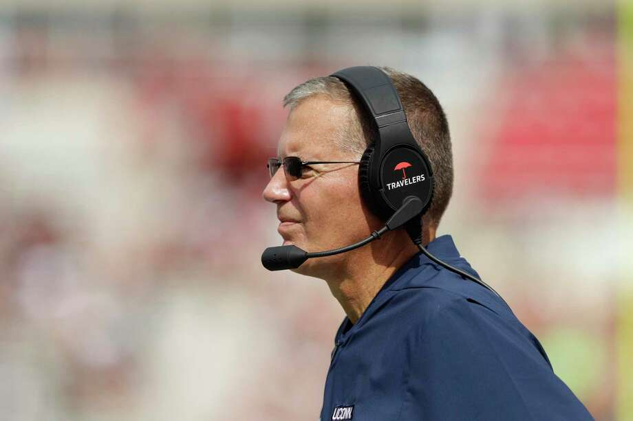 Randy Edsall's UConn football team will visit Ohio State in 2025. UConn football coach Randy Edsall watches during the first half of an NCAA college football game against Indiana, Saturday, Sept. 21, 2019, in Bloomington, Ind. Photo: Darron Cummings / Associated Press / Copyright 2019 The Associated Press. All rights reserved