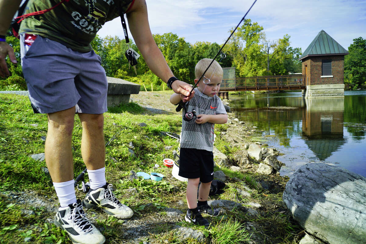 About that attention span we just mentioned: Bringing snacks, drinks and toys can help your little one stay occupied and happy after they've had their fill of fishing. While they're snacking or playing, that's your chance to do a little bit of fishing yourself.