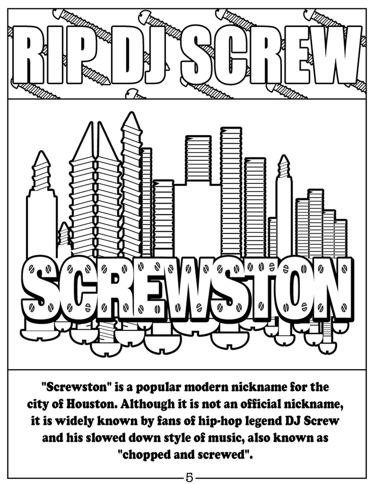 'The H-Town Coloring Book' includes many popular Houston nicknames