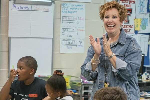 Shana Vourazeris, fourth grade teacher at Santa Rita Elementary. 09/23/19 Tim Fischer/Reporter-Telegram