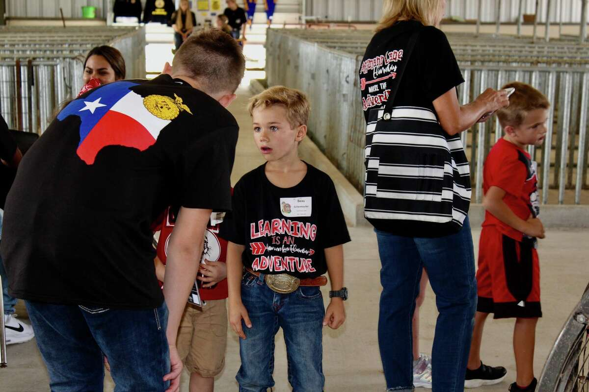 Comal ISD kindergarten students got to ask all kinds of questions to the Canyon New Braunfels FFA Leadership during a Sept. 20 field trip.