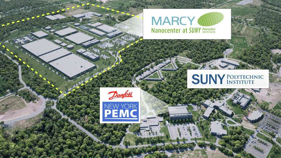 The Marcy Nanocenter is a 450-acre site that sits next to SUNY Polytechnic Institute's Marcy campus outside Utica. Cree is planning a $1 billion silicon carbide chip facility at the site, becoming the park's first tenant. Photo: Mohawk Valley EDGE