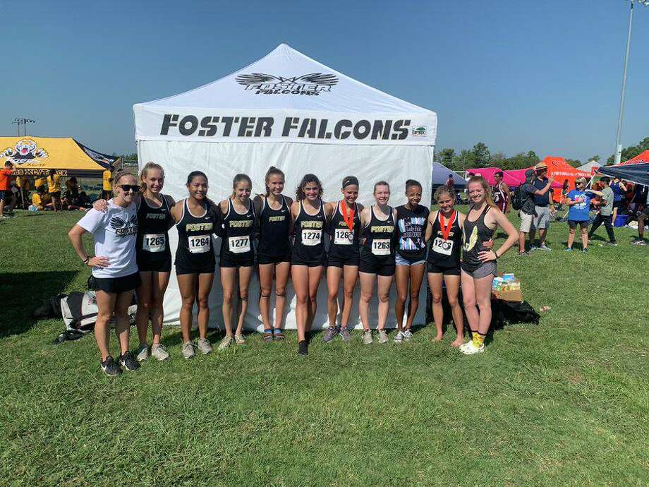 The Foster cross country team won the Gold girls division at the Deer Park Invitational, scoring 73 points to edge Ridge Point by six in a field of 12 teams. Photo: Foster High School / Foster High School