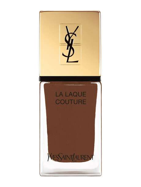 Anyone can do pink, but how daring is YSL's La Laque Couture Nail Polish in Brown? Chocolate and café au lait nails rule; $28 at Nordstrom and Saks Fifth Avenue.