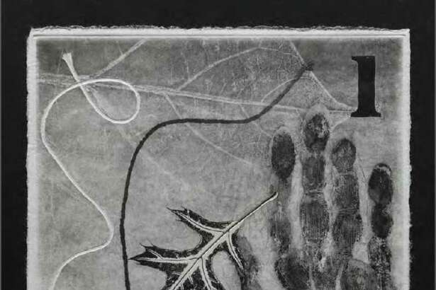 """""""1,"""" a monoprint on hand-torn Kurotani Kozo paper, is among works on view Sept. 29-Feb. 16 in """"Jasper Johns: 100 Variations on a Theme"""" at the Museum of Fine Arts, Houston."""