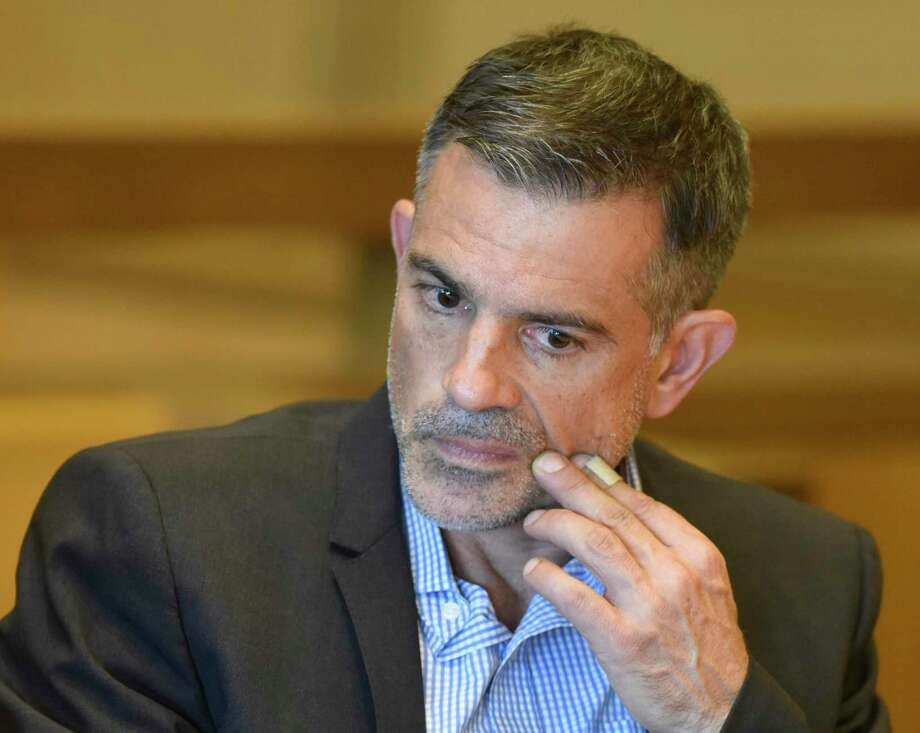Fotis Dulos appears at the Connecticut Superior Court in Stamford, Conn. Monday, Sept. 23, 2019. Dulos, who was twice charged with evidence tampering in relation to the disappearance of his ex-wife Jennifer Farber Dulos, was back in court Monday to address issues with his GPS monitoring device. The device must be charged at the same time every day and has dipped below a 25 percent battery charge at least four times in the past month. Photo: Tyler Sizemore / Hearst Connecticut Media / Greenwich Time