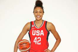 UConn rising sophomore Olivia Nelson-Ododa, who used her USA Basketball experience to learn from the best players in the world.
