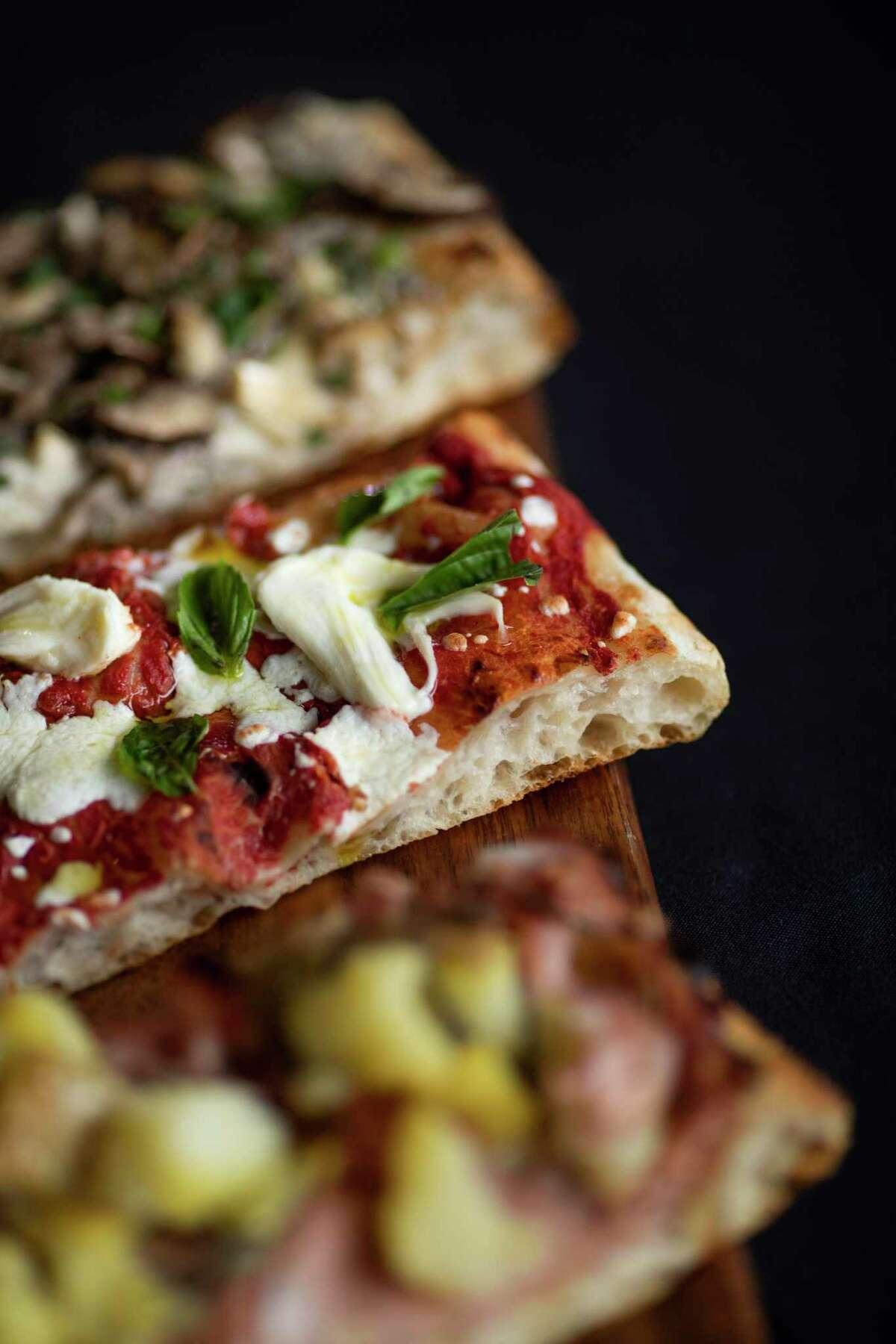 BOH Pasta & Pizza's Margherita with fresh mozzarella, tomato, 1836 olive oil, and basil.