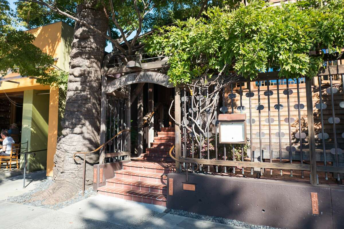 The facade of Chez Panisse, the flagship restaurant of iconic restaurateur Alice Waters, in the neighborhood formerly known as the
