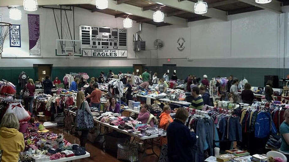 A scene from one of last year's Mom2Mom sales at Trinity Lutheran Ministries.