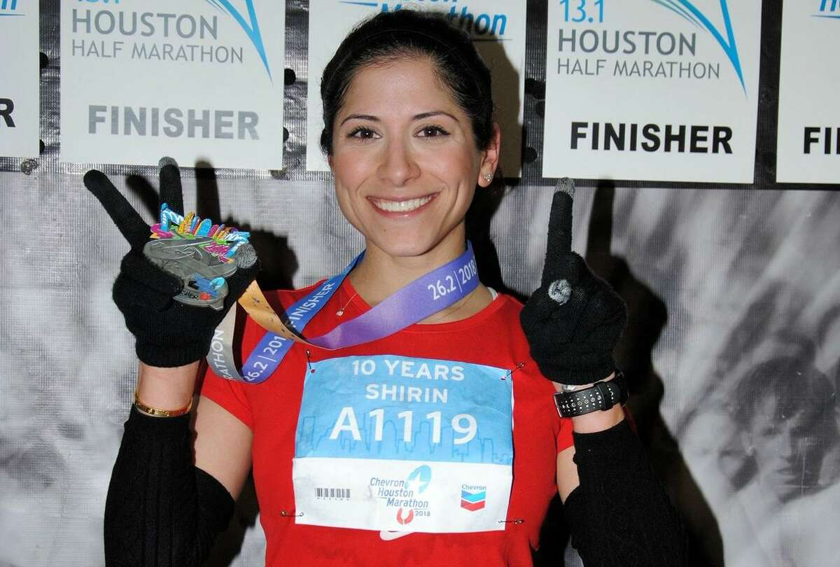 Shirin Tippit, 37, will run her 12th Houston Marathon in January 2020 about five months after the birth of her first child, Olivia.