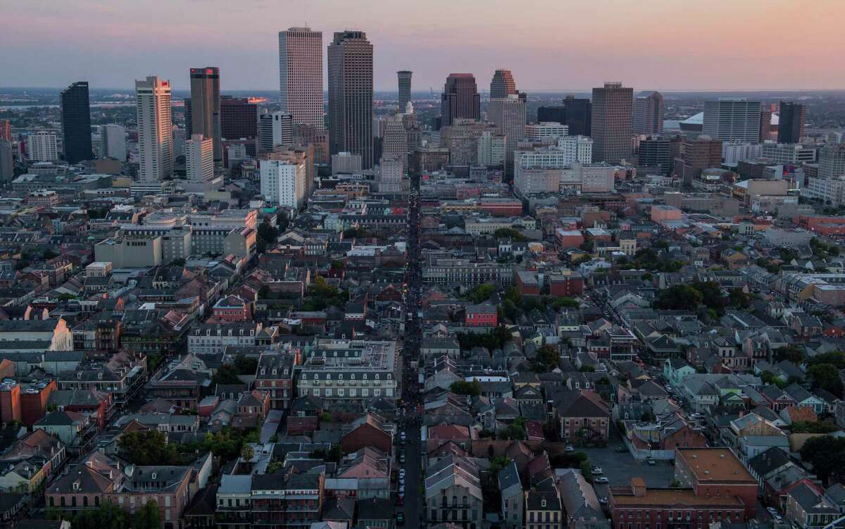 The New Orleans skyline in 2015.